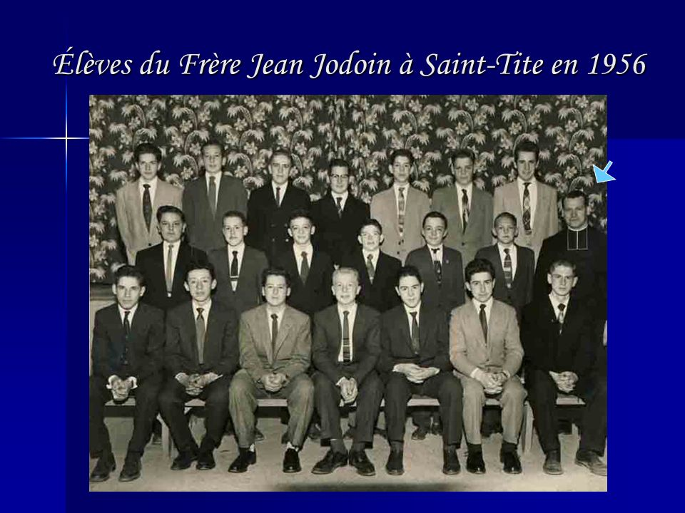 Élèves du Frère Jean Jodoin à Saint-Tite en 1956