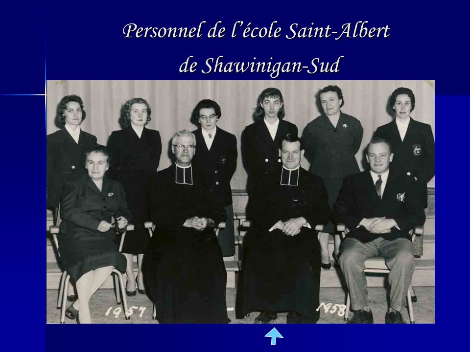 Personnel de l'école Saint-Albert de Shawinigan-Sud