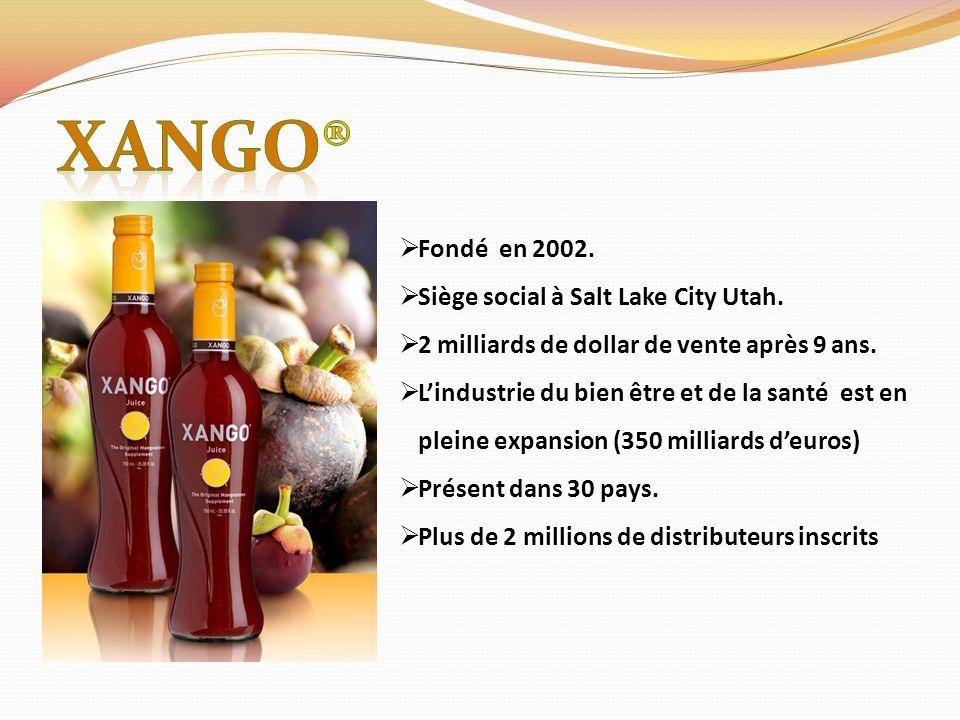 XANGO® Fondé en 2002. Siège social à Salt Lake City Utah.