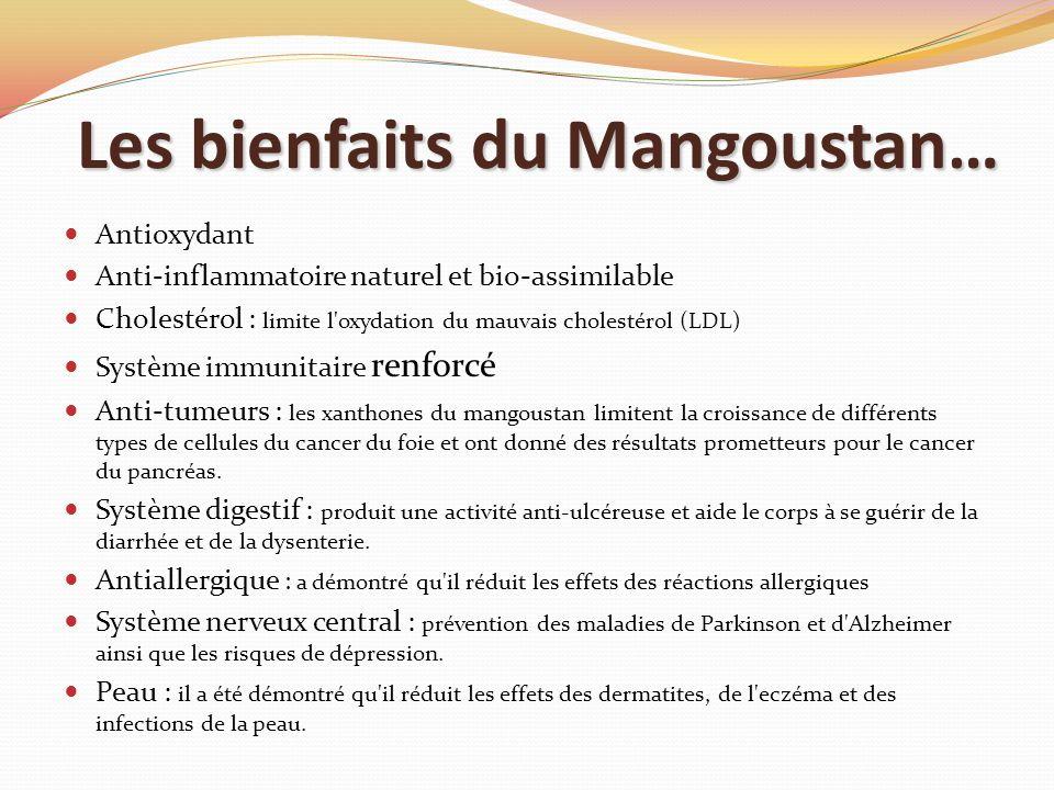 Les bienfaits du Mangoustan…