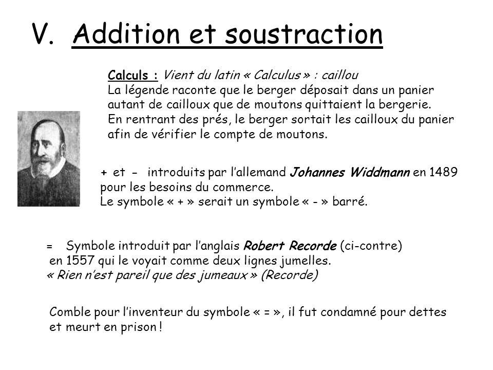 V. Addition et soustraction