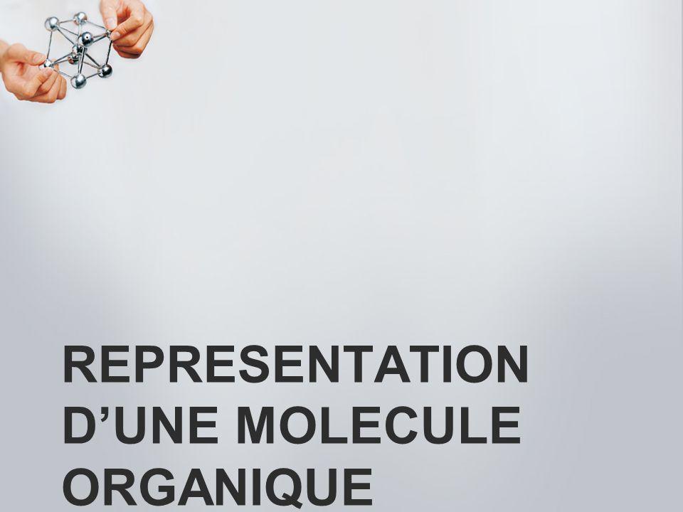 representation d'une MOLECULE organique