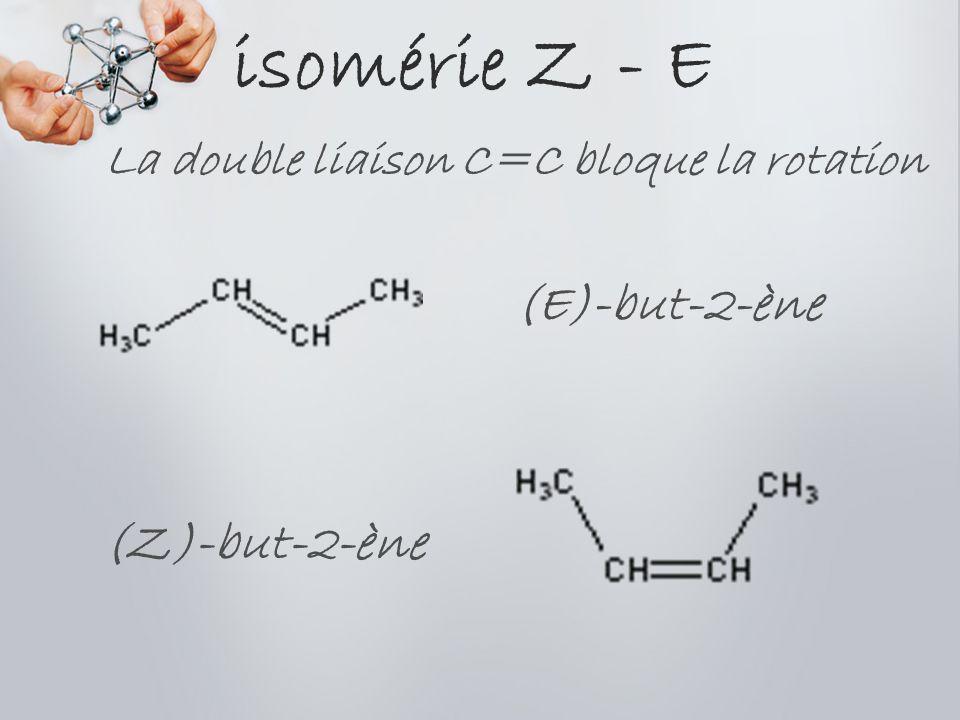 La double liaison C=C bloque la rotation
