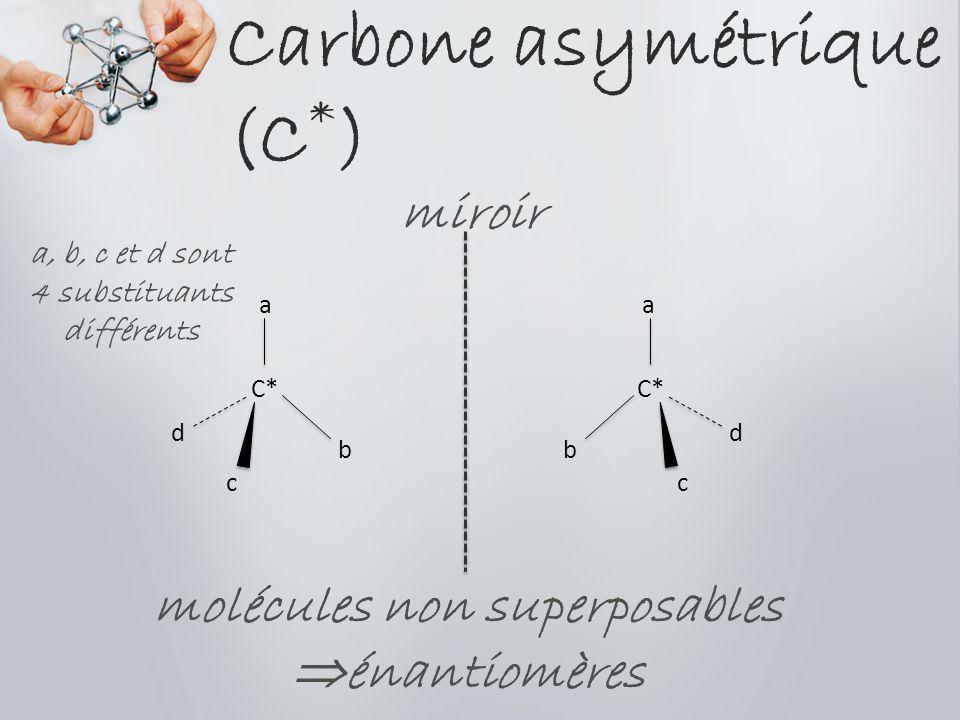 Carbone asymétrique (C*)
