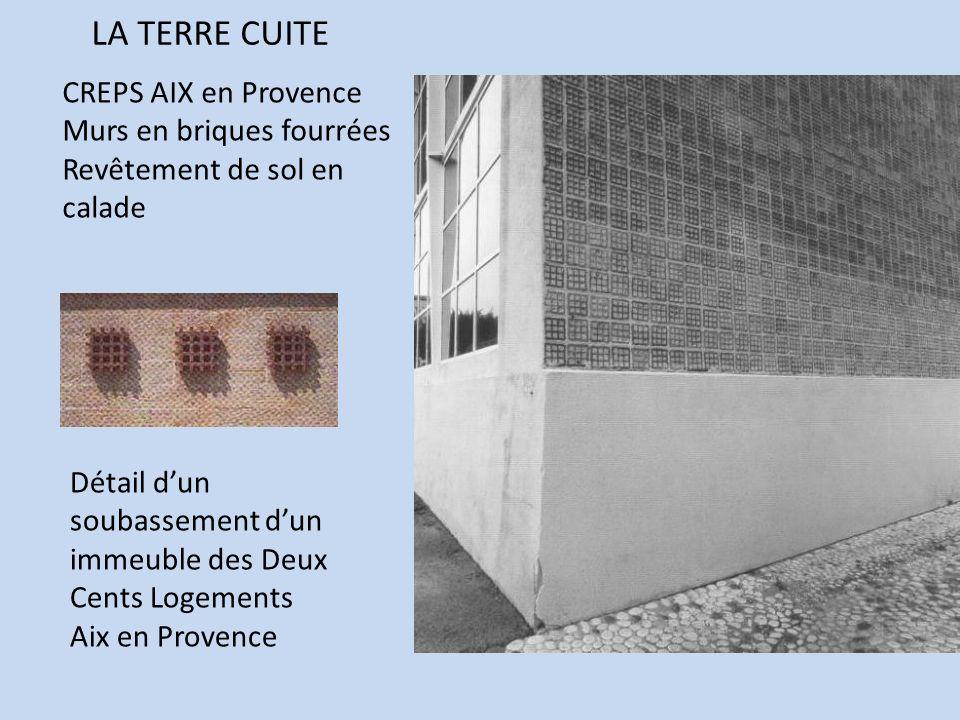 LA TERRE CUITE CREPS AIX en Provence Murs en briques fourrées