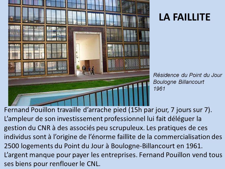 LA FAILLITE Résidence du Point du Jour. Boulogne Billancourt. 1961.