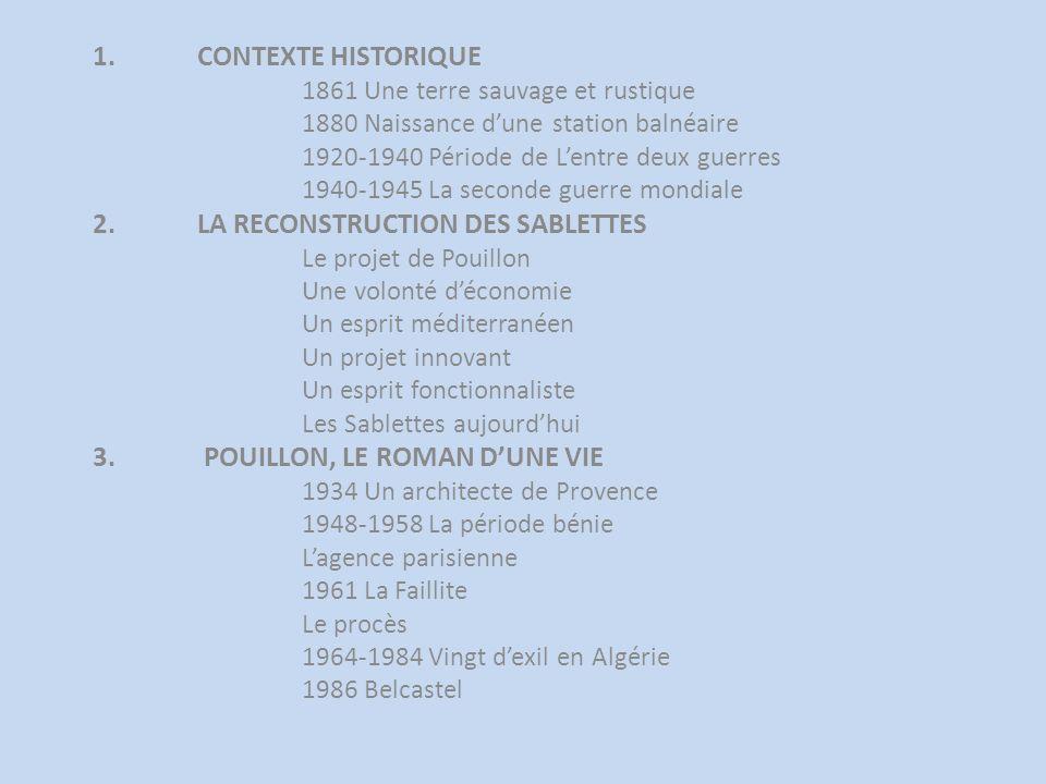 2. LA RECONSTRUCTION DES SABLETTES