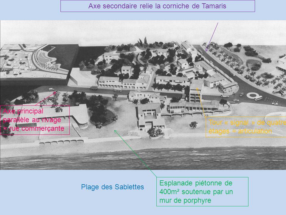 Axe secondaire relie la corniche de Tamaris