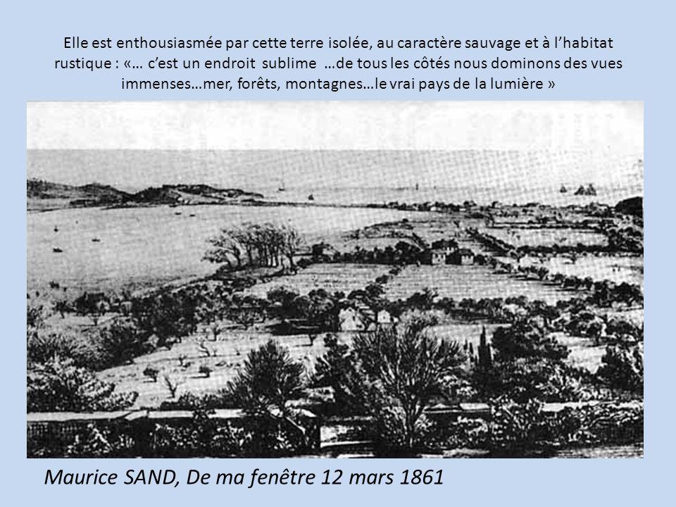 Maurice SAND, De ma fenêtre 12 mars 1861