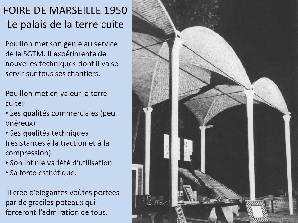 FOIRE DE MARSEILLE 1950 Le palais de la terre cuite