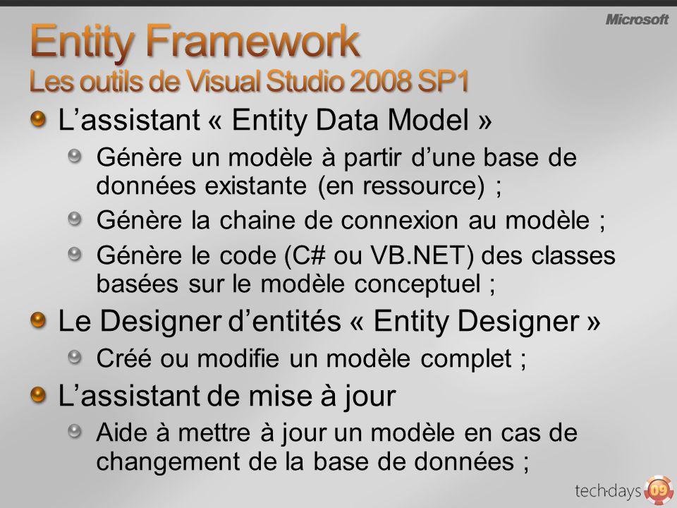 Entity Framework Les outils de Visual Studio 2008 SP1