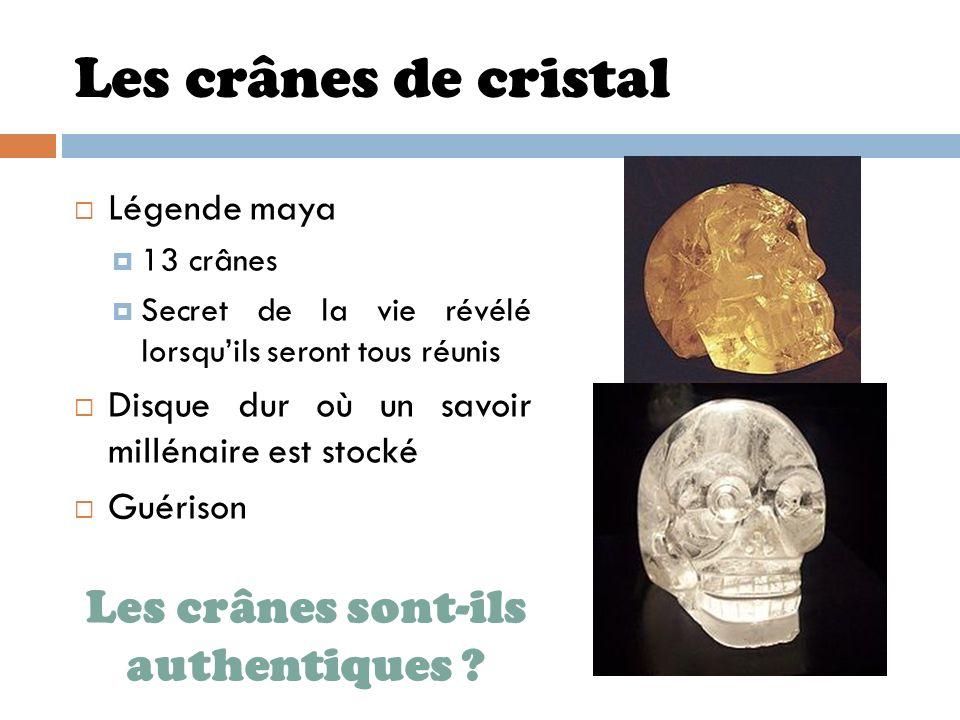 Les crânes sont-ils authentiques