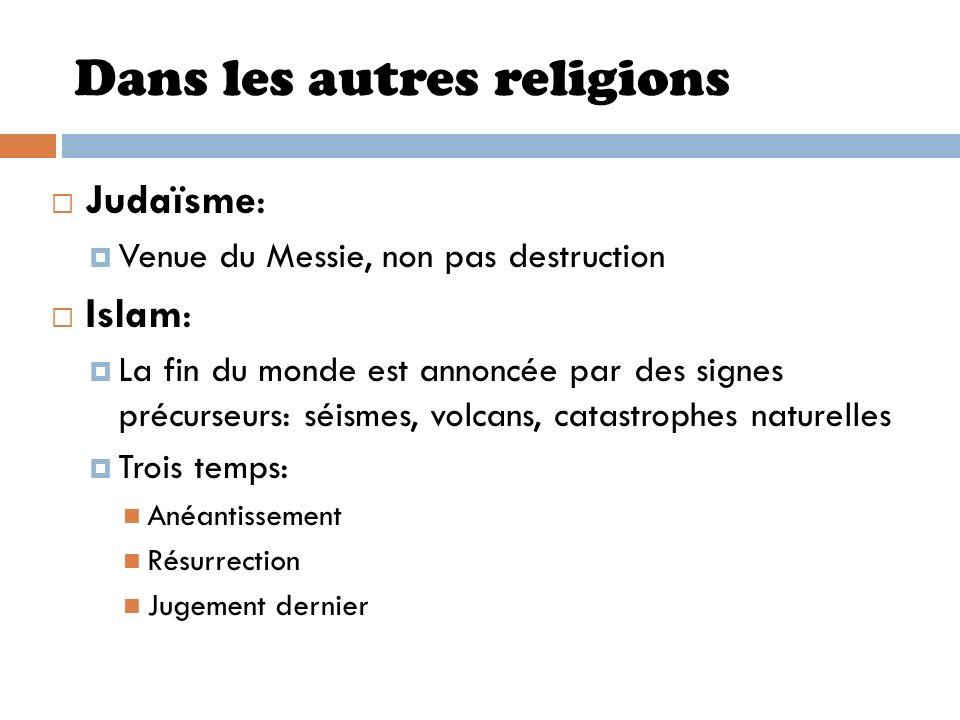 Dans les autres religions