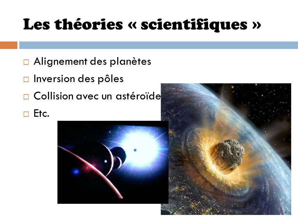 Les théories « scientifiques »