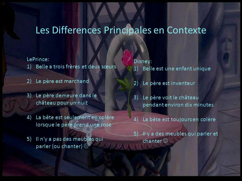 Les Differences Principales en Contexte