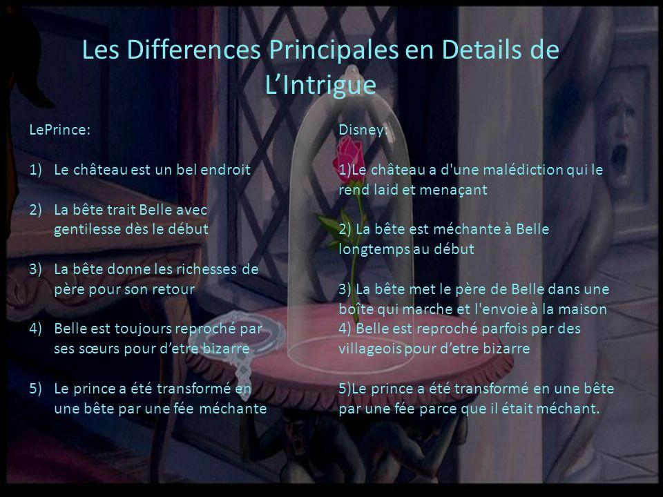 Les Differences Principales en Details de L'Intrigue