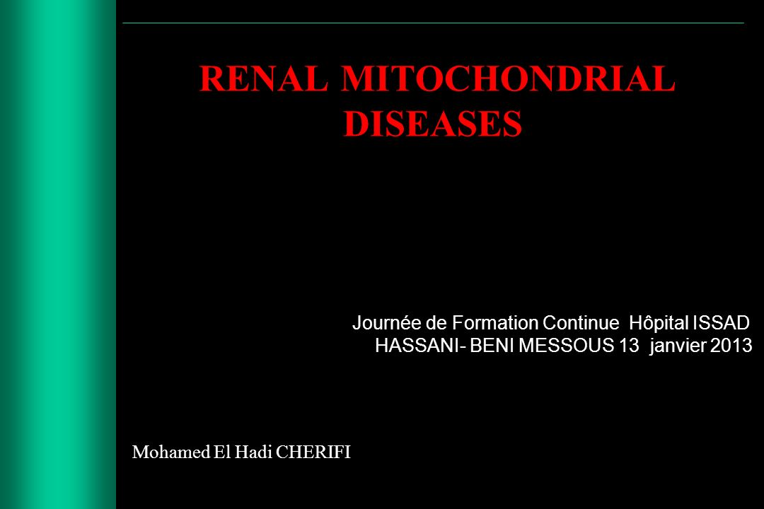 RENAL MITOCHONDRIAL DISEASES