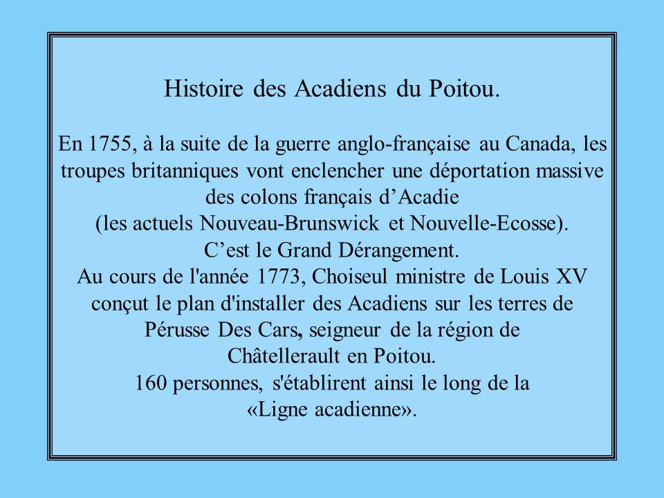 Histoire des Acadiens du Poitou