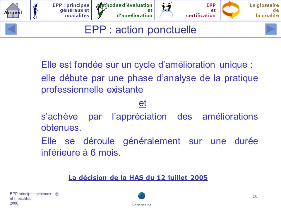 EPP : action ponctuelle