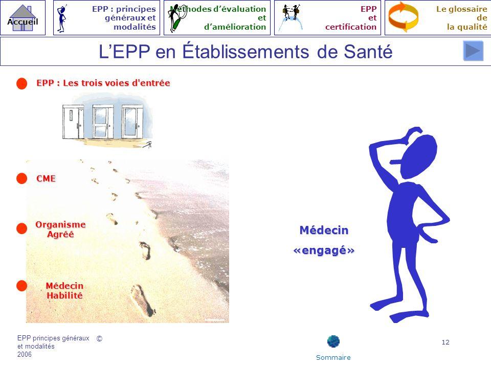 L'EPP en Établissements de Santé