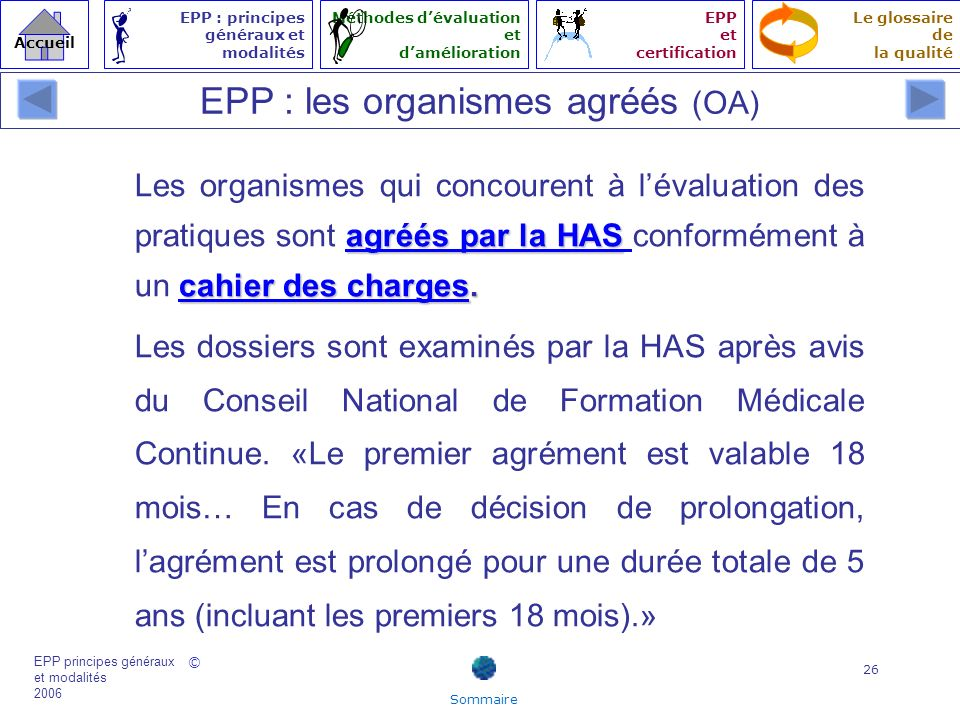 EPP : les organismes agréés (OA)