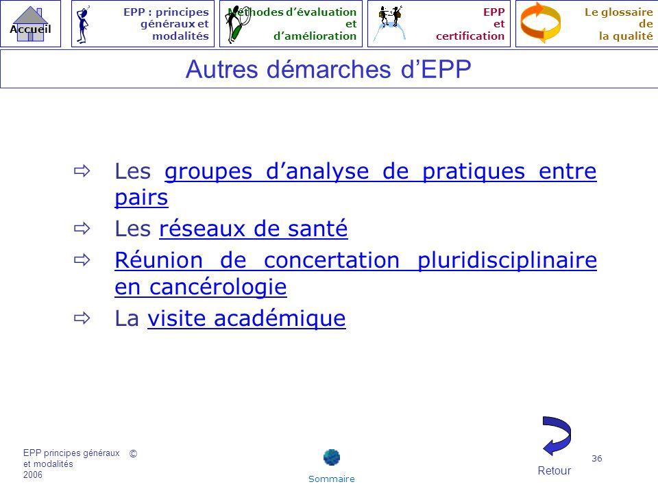 Autres démarches d'EPP