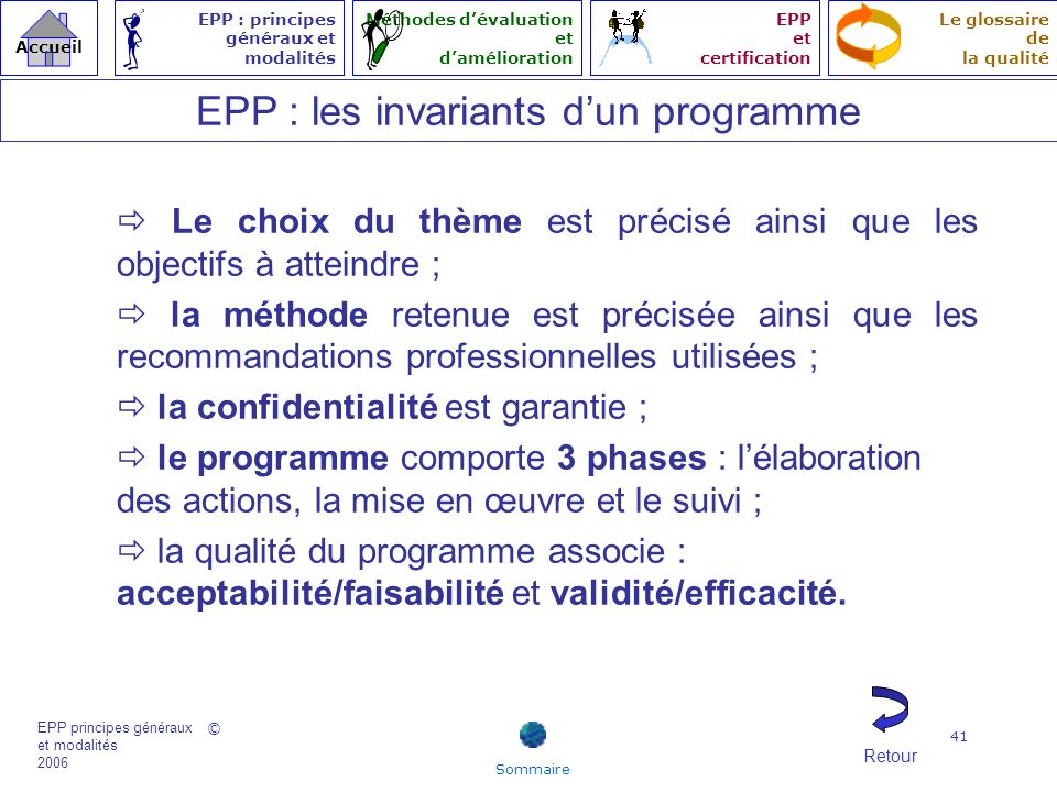 EPP : les invariants d'un programme