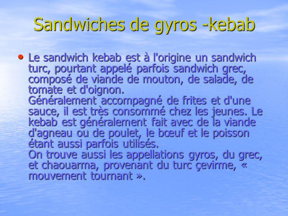Sandwiches de gyros -kebab