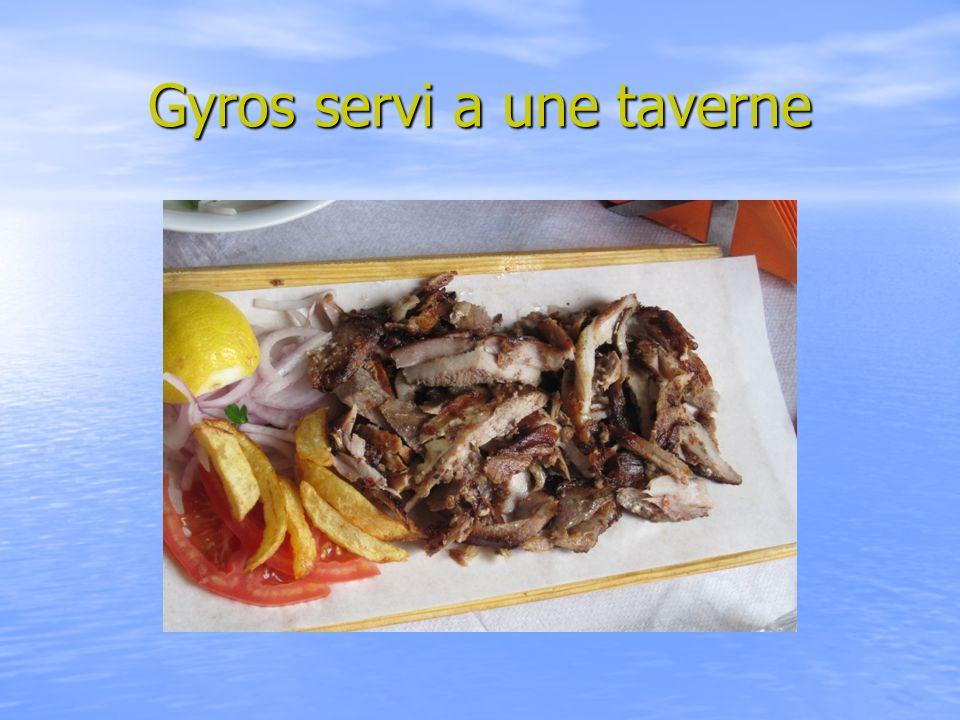 Gyros servi a une taverne