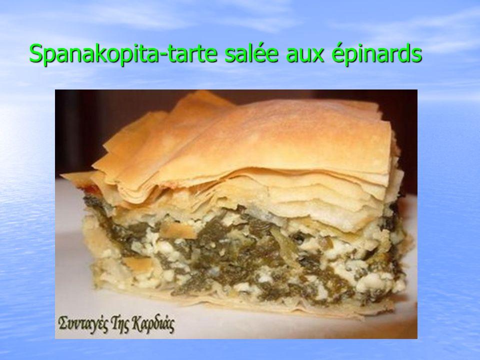 Spanakopita-tarte salée aux épinards