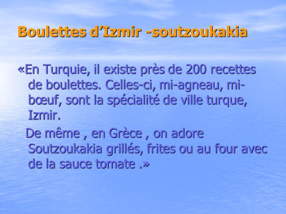 Boulettes d'Izmir -soutzoukakia
