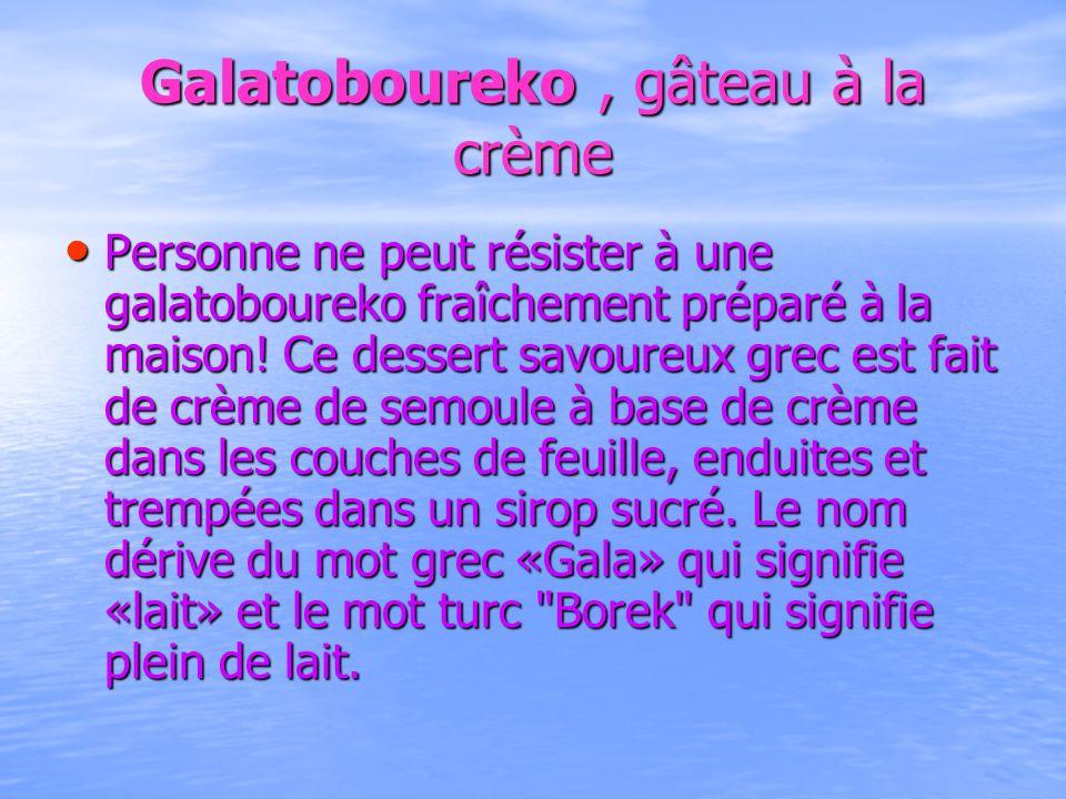 Galatoboureko , gâteau à la crème