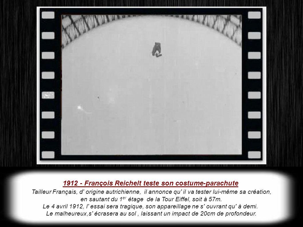 1912 - François Reichelt teste son costume-parachute