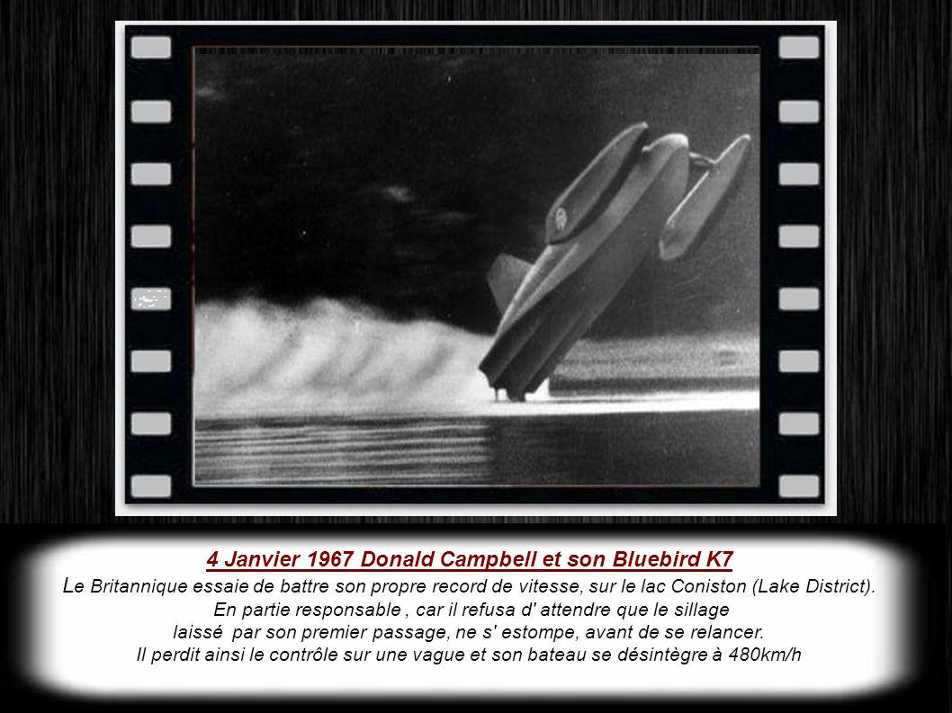 4 Janvier 1967 Donald Campbell et son Bluebird K7