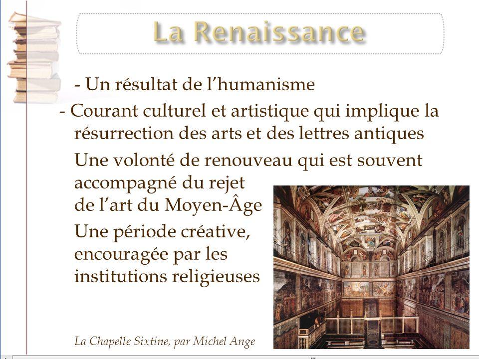 La Renaissance - Un résultat de l'humanisme