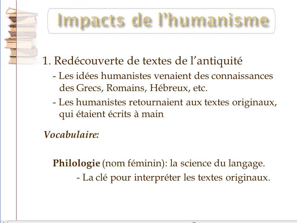 Impacts de l'humanisme