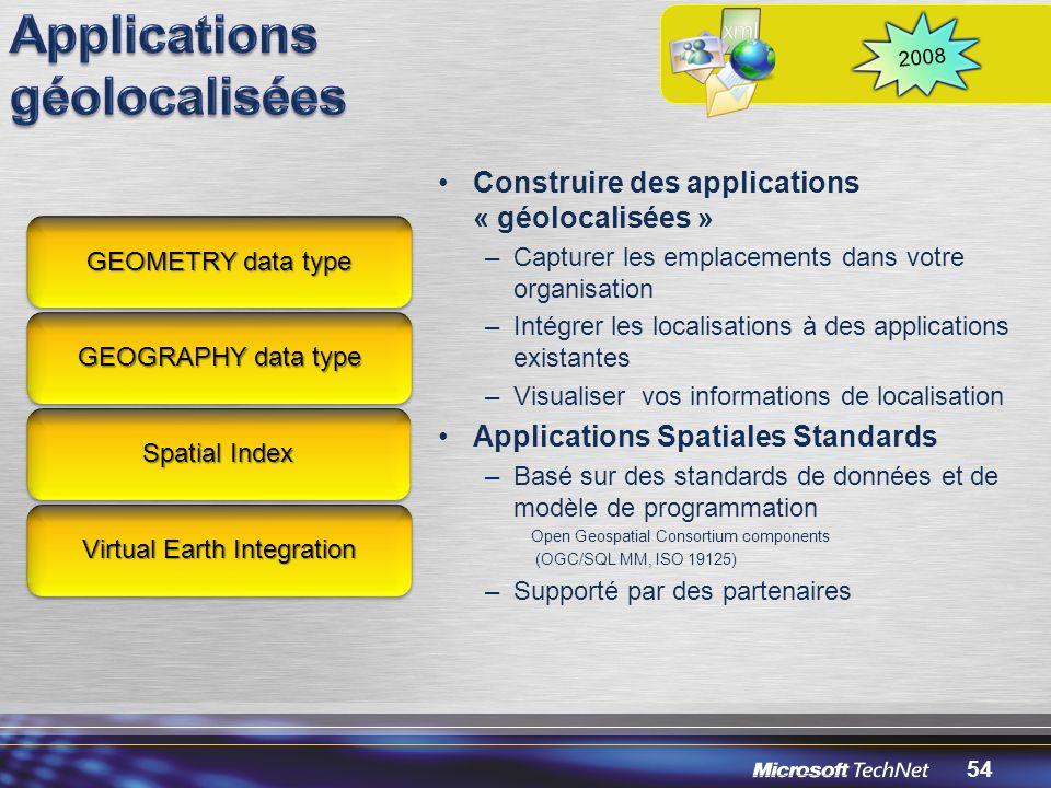 Applications géolocalisées