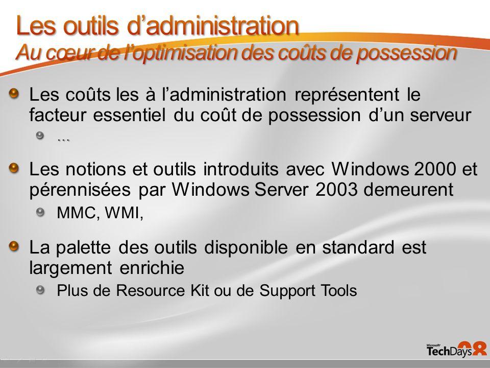 Les outils d'administration Au cœur de l'optimisation des coûts de possession