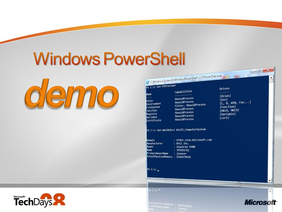 demo Windows PowerShell 3/30/2017 12:05 PM