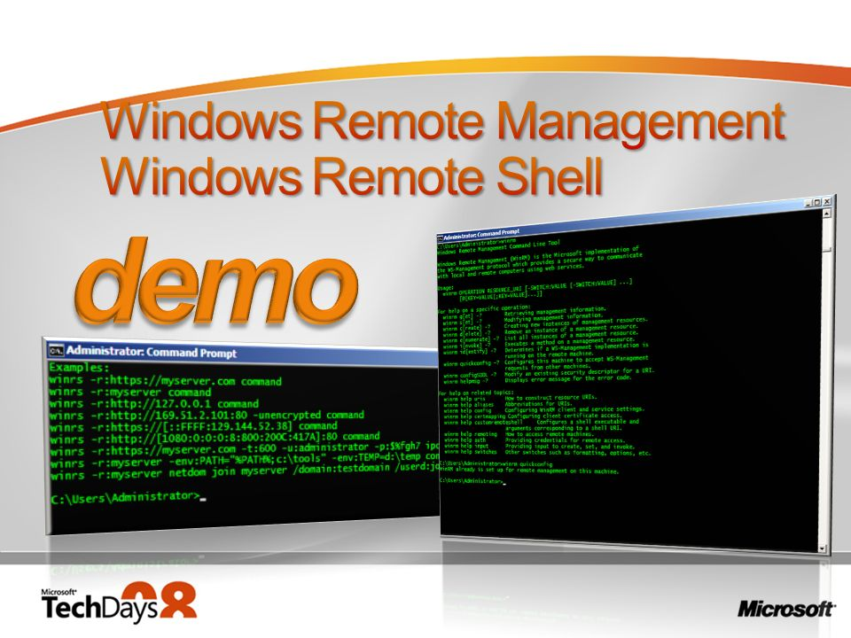Windows Remote Management Windows Remote Shell