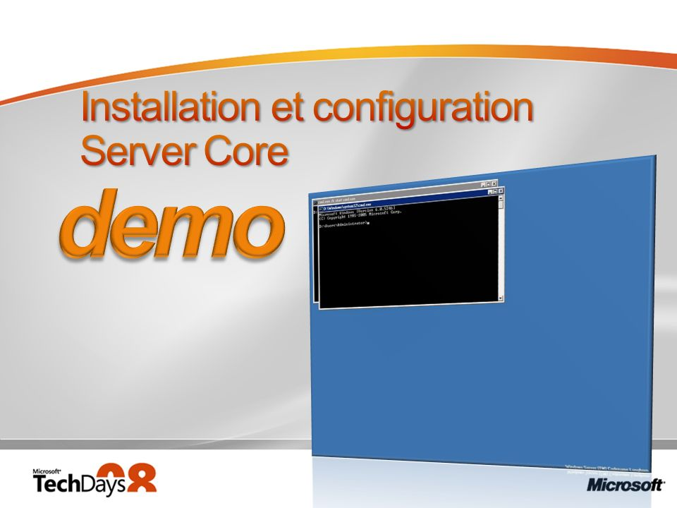 Installation et configuration Server Core