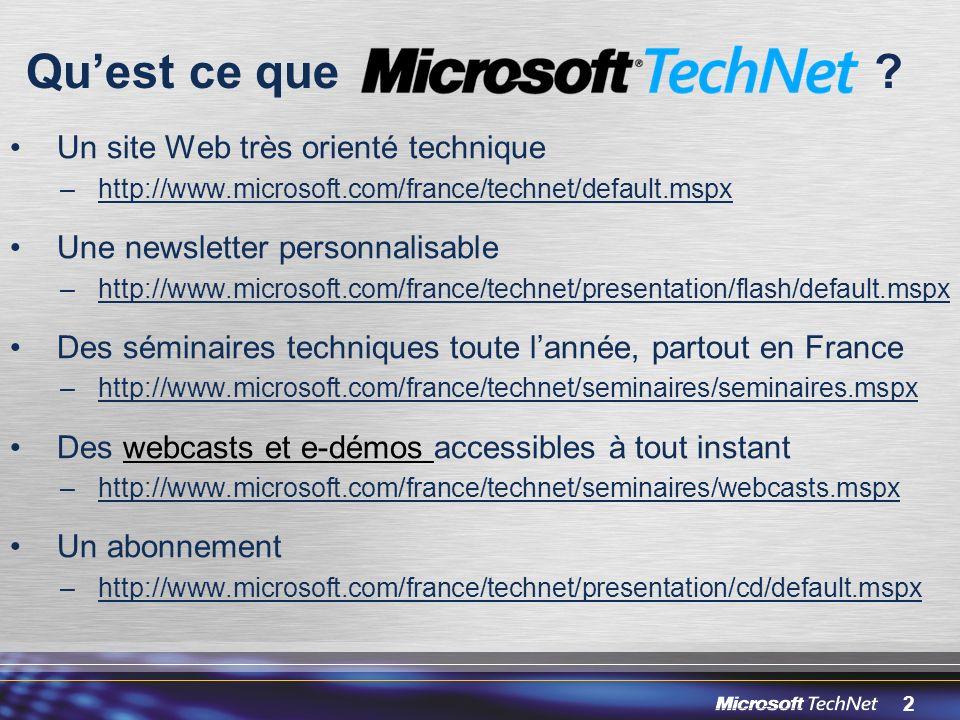 Qu'est ce que Un site Web très orienté technique