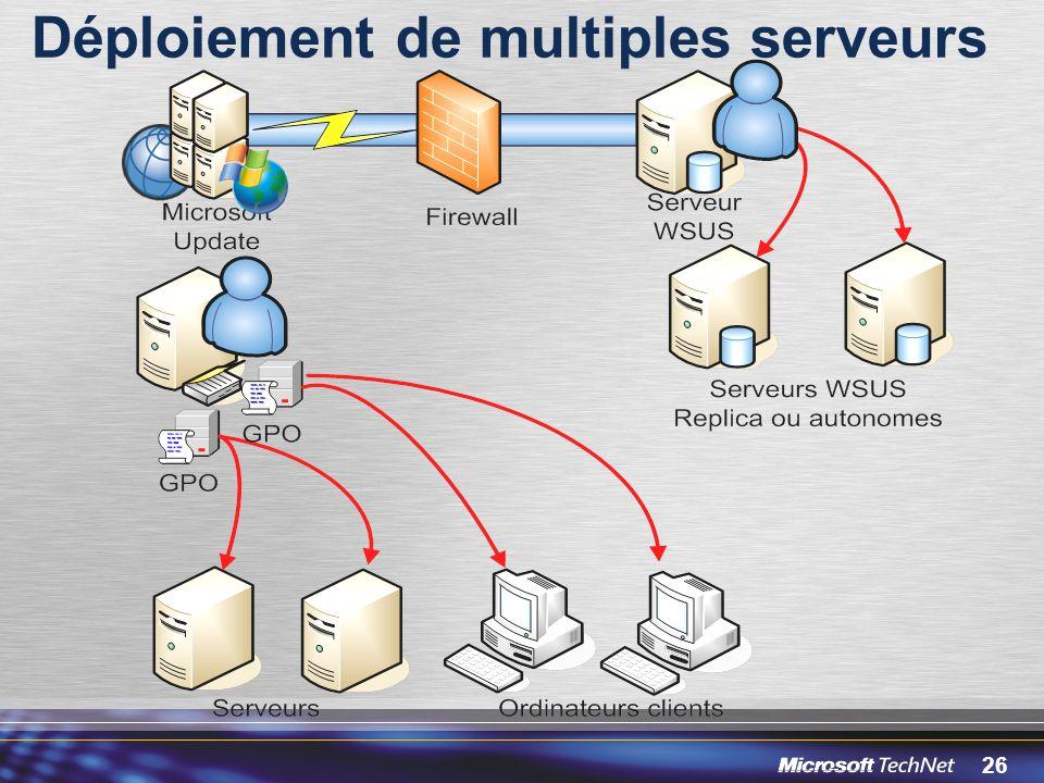 Déploiement de multiples serveurs