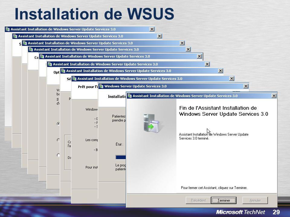 Installation de WSUS 3/30/2017 12:05 PM