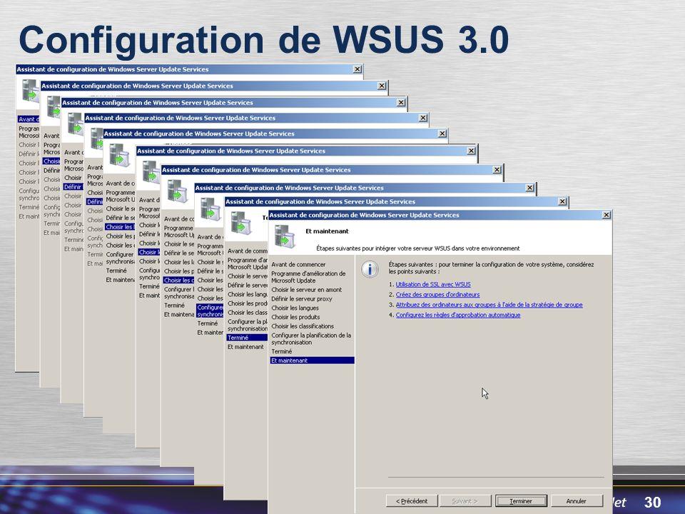 Configuration de WSUS 3.0 3/30/2017 12:05 PM