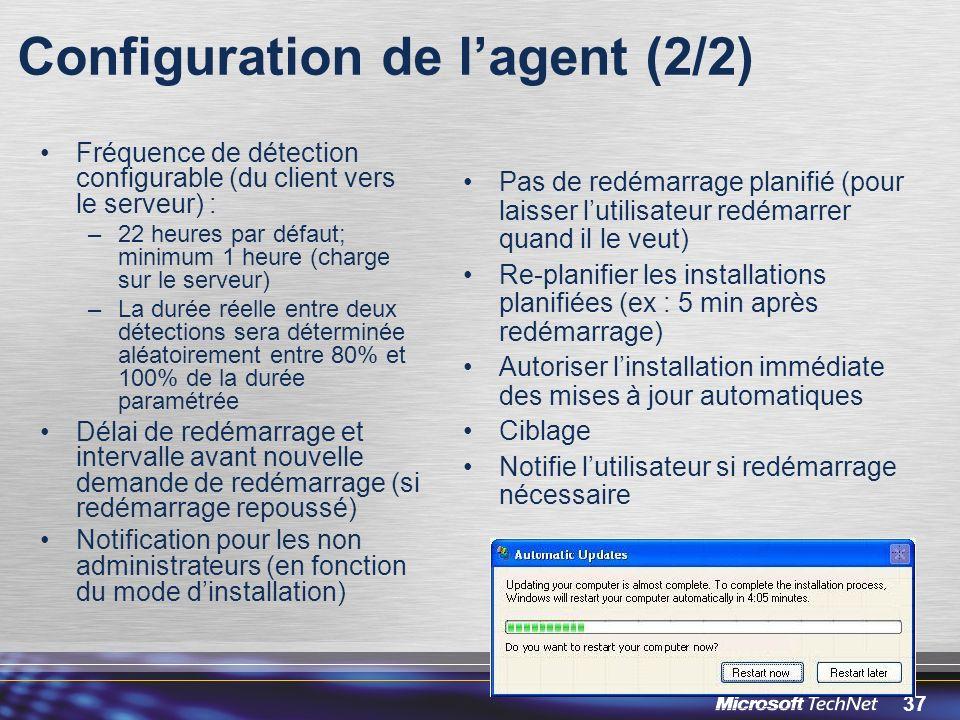 Configuration de l'agent (2/2)