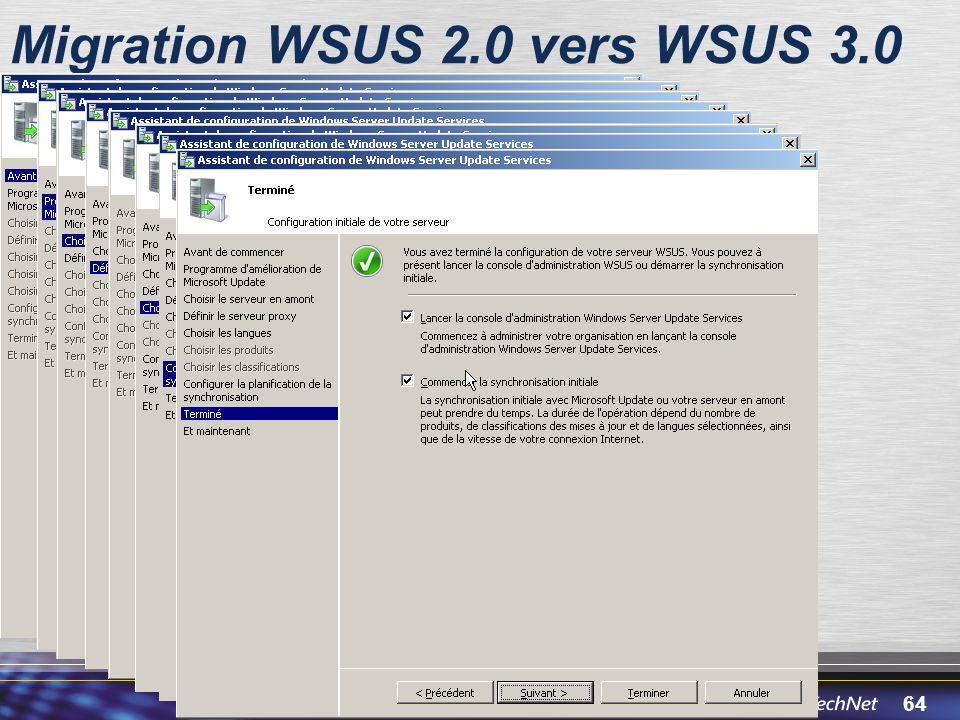 Migration WSUS 2.0 vers WSUS 3.0