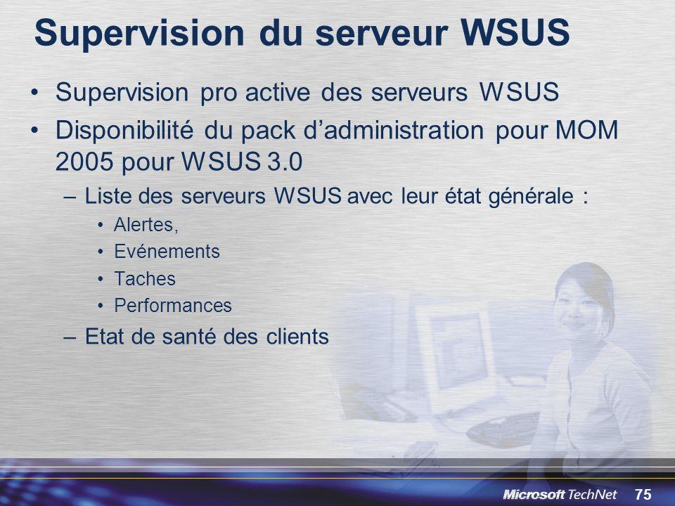 Supervision du serveur WSUS