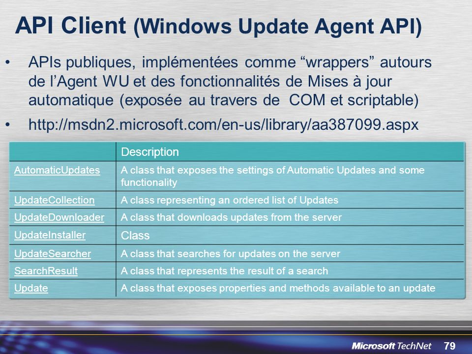 API Client (Windows Update Agent API)