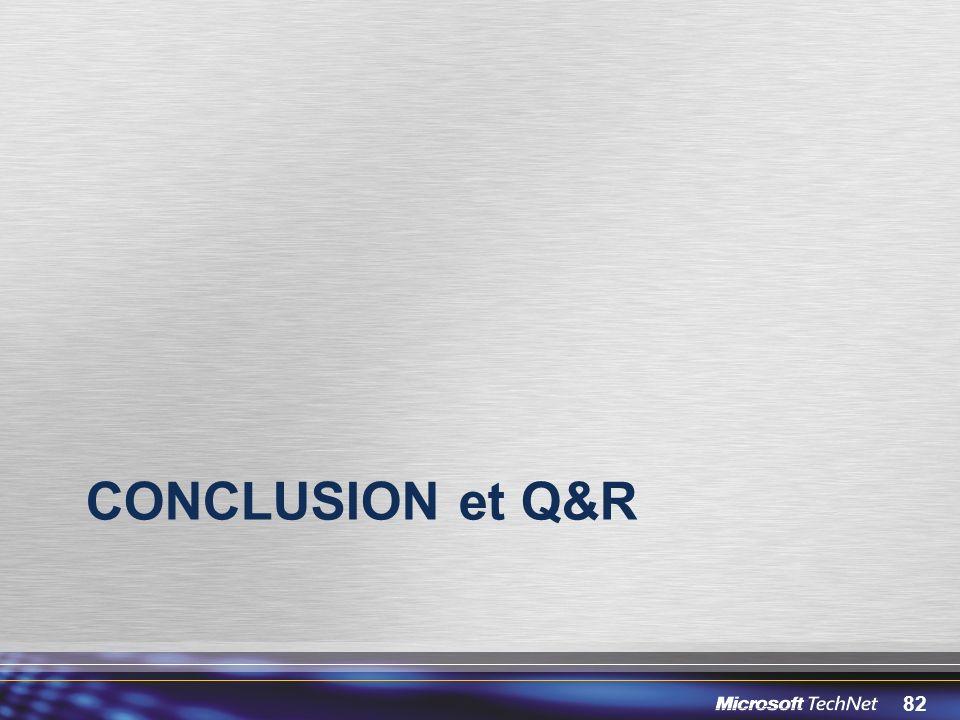 Conclusion et Q&R 3/30/2017 12:05 PM